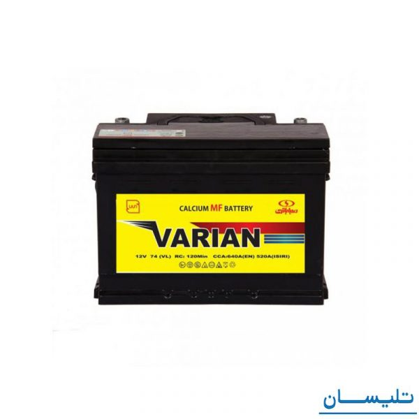 باتری 74 آمپر واریان اتمی صبا باتری battery 74 ah varian